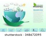 infographic energy saving green ...   Shutterstock .eps vector #348672095