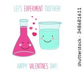 cute unusual valentines day... | Shutterstock .eps vector #348681611