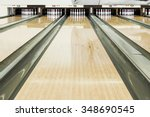 Close Up Of Bowling Pins In A...