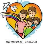 family | Shutterstock .eps vector #3486908