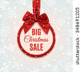 big christmas sale  round... | Shutterstock .eps vector #348691205