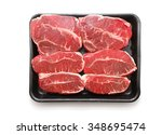 fresh raw beef lamb fillet in... | Shutterstock . vector #348695474