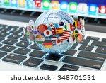 global internet communication ... | Shutterstock . vector #348701531