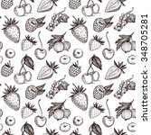 hand drawn vector seamless...   Shutterstock .eps vector #348705281