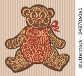 isolated icon of bear made from ...   Shutterstock .eps vector #348706061