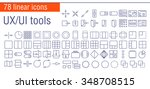 vector linear icons set of ui...