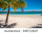 beautiful tropical island beach ... | Shutterstock . vector #348712829