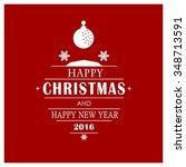 christmas ornament balls... | Shutterstock .eps vector #348713591