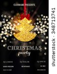 christmas party or dinner... | Shutterstock .eps vector #348713741
