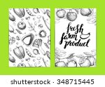 farmers food design template... | Shutterstock .eps vector #348715445