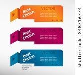 best choice message on origami... | Shutterstock .eps vector #348716774
