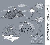 vector set with illustration... | Shutterstock .eps vector #348726971