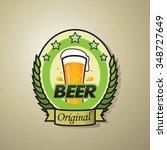 original beer bottle label... | Shutterstock .eps vector #348727649