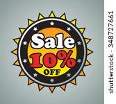 10  sale badge on gray... | Shutterstock .eps vector #348727661