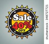 40  sale badge on gray... | Shutterstock .eps vector #348727721