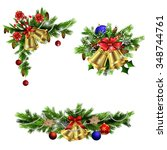christmas decoration  with... | Shutterstock .eps vector #348744761