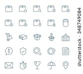 cargo and shipping vector icons ... | Shutterstock .eps vector #348749084