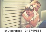happy loving family. mother and ... | Shutterstock . vector #348749855