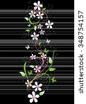 card with blossoming oriental... | Shutterstock .eps vector #348754157