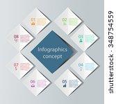 abstract 3d digital... | Shutterstock .eps vector #348754559