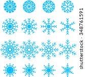 snowflakes set. vector...   Shutterstock .eps vector #348761591
