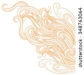 blonde hair on a white... | Shutterstock .eps vector #348763064