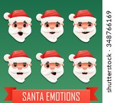 santa emotions | Shutterstock .eps vector #348766169