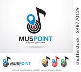 music point logo template...   Shutterstock .eps vector #348770129