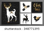 christmas and new year's ... | Shutterstock .eps vector #348771395