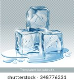 transparent  blue vector ice... | Shutterstock .eps vector #348776231