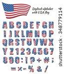alphabet for american patriotic ...   Shutterstock .eps vector #348779114
