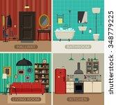 interiors of living room ... | Shutterstock . vector #348779225