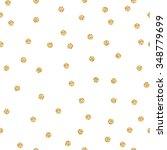 gold shimmer glitter polka dot... | Shutterstock .eps vector #348779699