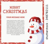 snowman merry christmas   Shutterstock .eps vector #348782111