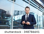 attractive young businessman... | Shutterstock . vector #348786641