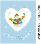 merry christmas  christmas and... | Shutterstock .eps vector #348788981