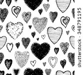 black and white pattern of the... | Shutterstock .eps vector #348791195