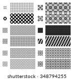 12 geometric seamless patterns... | Shutterstock .eps vector #348794255
