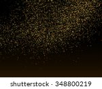 glitter dust. vector gold... | Shutterstock .eps vector #348800219