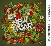 new year hand lettering and... | Shutterstock .eps vector #348802289