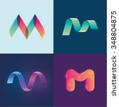 logo idea of letter m set | Shutterstock .eps vector #348804875