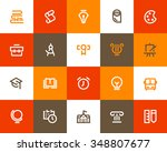 school and education icons.... | Shutterstock .eps vector #348807677