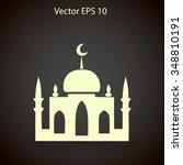 mosque vector illustration | Shutterstock .eps vector #348810191