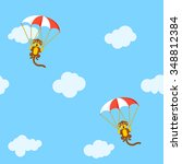 pattern of monkeys in the sky... | Shutterstock .eps vector #348812384