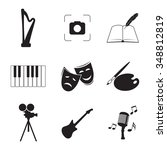 set of isolated icons on a... | Shutterstock .eps vector #348812819