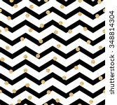 Chevron Zigzag Black And White...