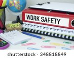 work safety   procedures...   Shutterstock . vector #348818849
