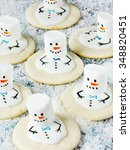 Sweet Snowmen Of Cookies And...