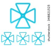 cyan line science logo icon...