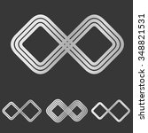silver line infinity symbol...